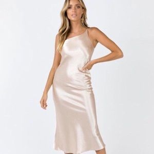 Princess Polly - Satin Champagne Slip Dress